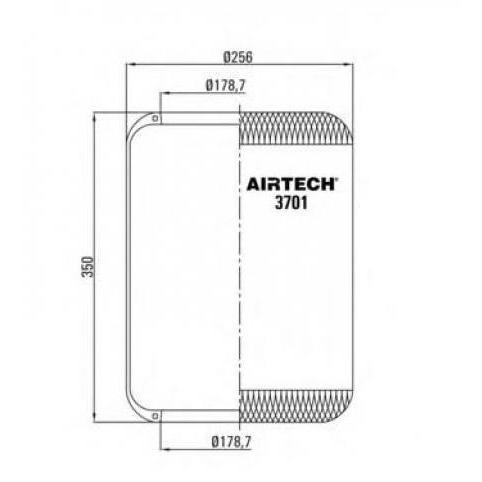 www.AirGART.com Пневморессора Contitech 701N