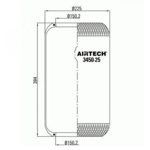 www.AirGART.com Пневморессора Airtech 3450-25