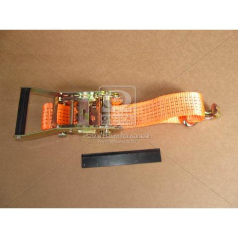www.AirGART.com Стяжка груза 5t (трещотка пластик. ручка, лента 50mm.x0.5m., крюк)