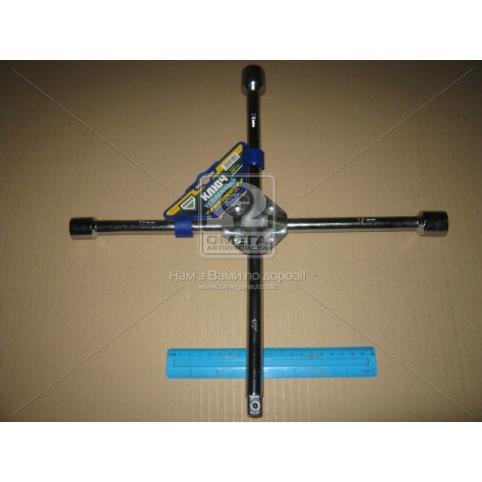 www.AirGART.com Ключ крест усиленный, с центр. пластиной, хром 17X19X21X1/2 мм.