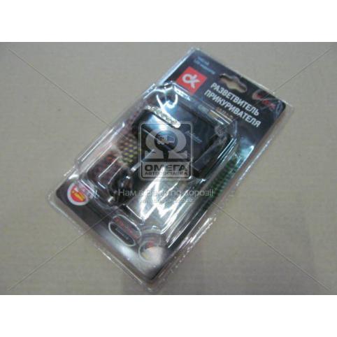www.AirGART.com Разветвитель прикуривателя, 2в1 ,USB,1000mA, LED индикатор.