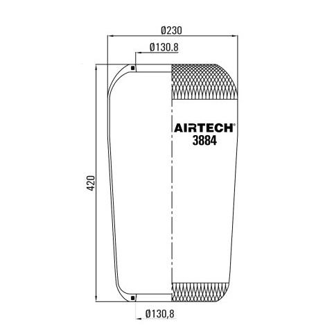 www.AirGART.com Пневморессора Airtech 3884.