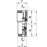 www.AirGART.com Фитинг-переходник Camozzi 6580 6-4, 8-6, 10-8, 12-10